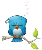 Tweeter Blue Bird Sleeping
