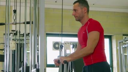 weight machine triceps workout