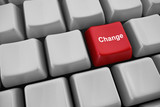 "Keyboard with ""change"" button"