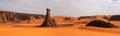 Leinwandbild Motiv Panorama of sand dunes, Sahara desert