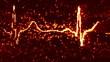 digital pixel EKG electrocardiogram pulse orange loop
