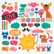 Sweet various scrapbook elements set