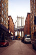 Manhattan bridge from Washington street