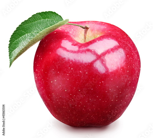 Red apple isolated.