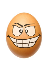 Egg with malignant face