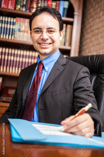 Successful businessman portrait