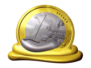 melting Euro, Symbol of Inflation