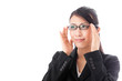 asian businesswoman with eyeglasses