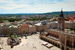View of the old town of Kracow, old Sukiennice, Poland