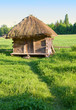 Old rural house with a straw roof