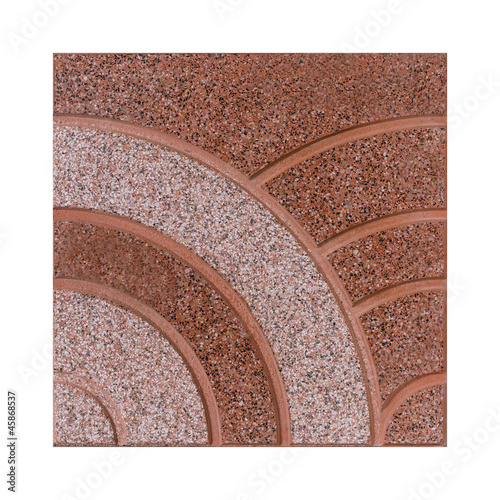 Brown rough floor tile isolated