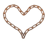 Heart of a metal chain