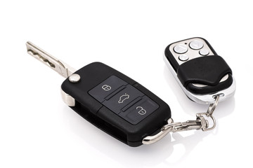 Car key isolated on white background