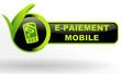 e-paiement mobile sur bouton web vert et noir
