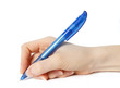 Blue pen isolated