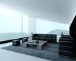 Luxuriöses Wohnzimmer |  Designwohnung Loft mit Bergblick