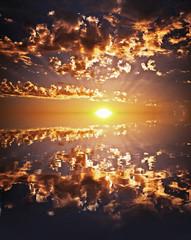 Beautiful Sunset Reflection on a lake