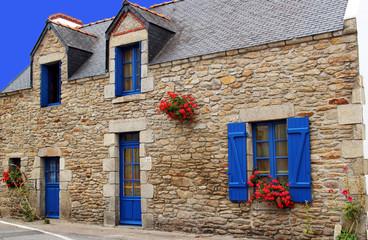 façade de maison Bretonne.