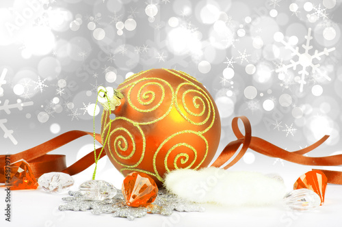 New year sphere with ribbon