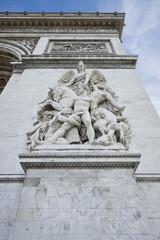 Paris, Famous Arc de Triumph. Detail of  Arc Triumph.