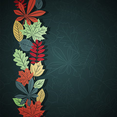 Dark autumn vector background
