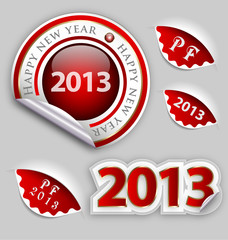 Happy New Year decoraton elements