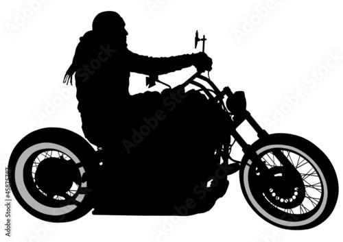 One bikers
