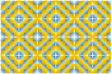 Optical illusion. Hypnotic illusion.
