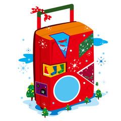旅行,クリスマス,ツリー,バッグ,星,魚