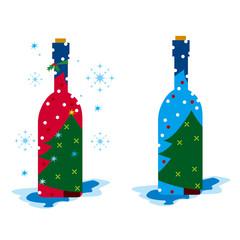 ワイン,クリスマス,雪,雪景色,星,赤,青
