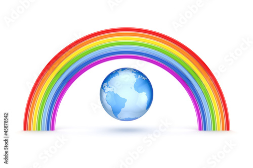 Rainbow and Earth.