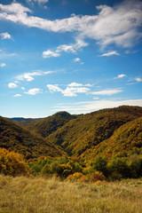 Autumn view of nature park Zumberak, Croatia
