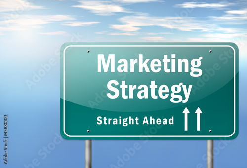 "Highway Signpost ""Marketing Strategy"""
