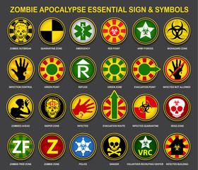 Zombie Apocalypse Essential Signs & Symbols