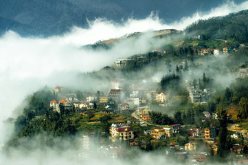Sapa in the mist, lao cai, vietnam landscapes #2