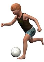 CHILD PALYS SOCCER - 3D