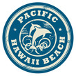 Grunge rubber stamp with name of Pacific, Hawaii, vector