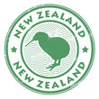 new zealand stamp, vector illustration