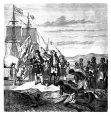 Europeans landing in Africa - 17th century