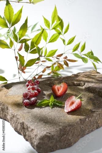 Beeren auf Stein