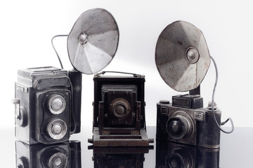 3 ANTIQUE CAMERA