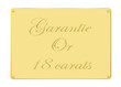Plaque garantie or 18 carats