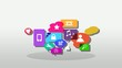 Applications mobile apps smartphones cloud bubbles video