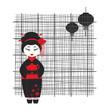 Geisha girl . Tea ceremony