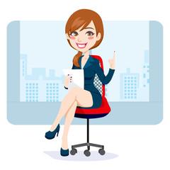 Office Brunette Woman