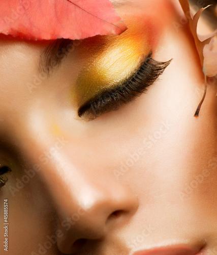 Autumn Makeup. Professional Fall Make-up Closeup - 45885574