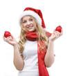 Mädchen mit Wehnachtskugeln