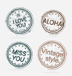 Collection of Premium Quality Labels vintage