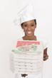 junge Pizzabäckerin