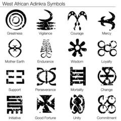 West African Adinkra Symbols
